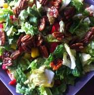made a veggie salad (organic), 1st meal after a May juice feast